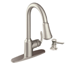 Moen Bayhill Spot Resist Stainless One Handle High Arc Pulldown Kitchen Faucet - CA87094SRS