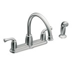 Moen Banbury Chrome Two-Handle High Arc Kitchen Faucet - CA87553