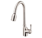 DANZE MELROSE HANDLE PULL DOWN FAUCET STEEL D457015SS