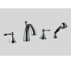 Dawn DS13 2119 4-Hole Tub Filler with Personal Handshower and Lever Handles