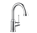 Hansgrohe 04216800 Talis C Kitchen Faucet Prep High Arc with Pull Out Drain Spout - Steel Optik