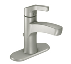 Moen Danika Spot Resist Brushed Nickel One Handle High Arc Bathroom Faucet - L84733SRN