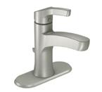 Moen Danika Spot Resist Brushed Nickel One Handle High Arc Bathroom Faucet - L84733SRN