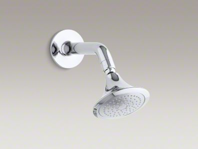 Kohler Symbol® 2.5 gpm single-function wall-mount showerhead with arm and flange K-18493