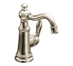 Moen Weymouth Nickel One Handle High Arc Bathroom Faucet - S42107NL