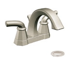 Moen Felicity Brushed Nickel Two Handle High Arc Bathroom Faucet - S442BN