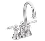 Moen Waterhill Chrome Two Handle High Arc Bar Faucet - S612