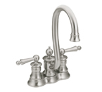 Moen Waterhill Classic Stainless Two Handle High Arc Bar Faucet - S612CSL