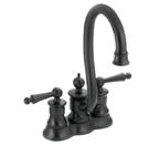 Moen Waterhill Wrought Iron Two Handle High Arc Bar Faucet - S612WR