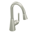 Moen Ascent Classic Stainless One Handle High Arc Pulldown Bar Faucet - S61708CSL