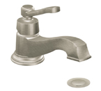 Moen Rothbury Brushed Nickel One Handle Low Arc Bathroom Faucet - S6202BN