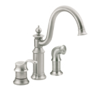 Moen Waterhill Classic Stainless One Handle High Arc Kitchen Faucet - S711CSL