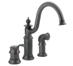 Moen Waterhill Wrought Iron One Handle High Arc Kitchen Faucet - S711WR