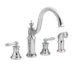 Moen Waterhill Chrome Two Handle High Arc Kitchen Faucet - S712