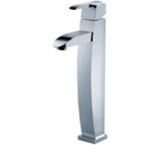 FLUID F20002-BN Penguin Series Single Lever Lavatory Vessel Faucet - Brushed Nickel