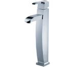 FLUID F20002-BN Penguin Series Single Lever Lavatory Vessel Faucet - Brushed Nickel