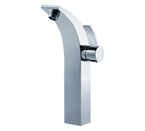 FLUID F13002-BN Sublime Series Single Lever Lavatory Vessel Faucet - Brushed Nickel