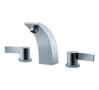 FLUID F13006-CP Sublime Series Dual Handle Lavatory Faucet - Chrome