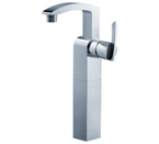 FLUID F16002-BN Toucan Series Single Lever Lavatory Vessel Faucet - Brushed Nickel