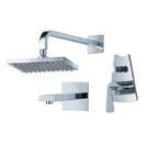 FLUID F1140BN Fan Series Tub and Shower Set - Brushed Nickel