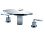 FLUID F1116 Fan Series Three Piece Roman Tub Set - Chrome