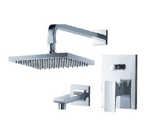 FLUID F2140-CP Jovian Series Tub and Shower Set - Chrome