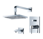 FLUID F1640-CP Toucan Series Tub & Shower Set - Chrome
