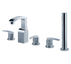 FLUID F1616-CP Toucan Series Three Piece Roman Tub Set - Chrome