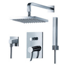 FLUID F1341T-CP Sublime Series Fixed and Hand Shower Set - Chrome