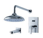 FLUID F2840-CP Wisdom Series Tub and Shower Set - Chrome