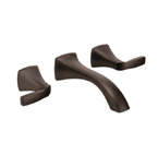 Moen Voss Oil Rubbed Bronze Two Handle Wall Mount Bathroom Faucet - T6906ORB