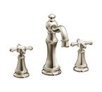 Moen Weymouth Nickel Two Handle High Arc Bathroom Faucet - TS42114NL