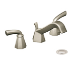 Moen Felicity Brushed Nickel Two Handle Low Arc Bathroom Faucet - TS447BN