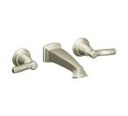 Moen Rothbury Brushed Nickel Two Handle Wall Mount Bathroom Faucet - TS6204BN