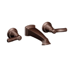 Moen Rothbury Oil Rubbed Bronze Two Handle Wall Mount Bathroom Faucet - TS6204ORB