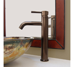 Fontaine Riviera Vessel Sink Filler Faucet + Drain - Brushed Bronze