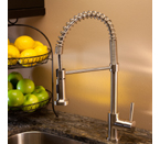 Fontaine Residential Spring Pull-Down Kitchen Faucet - Stainless Steel