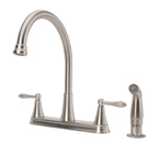 Fontaine High-Arc Kitchen Faucet - Brushed Nickel